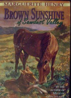 """""""Brown Sunshine of Sawdust Valley"""" by Marguerite Henry - a story about a Mule.  from The Pony Book Chronicles Blog"""