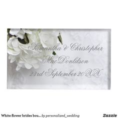 Shop White flower brides bouquet wedding table number holder created by personalized_wedding. Bride Bouquets, Bouquet Wedding, Floral Bouquets, Floral Wedding, Wedding Favors, Wedding Table Number Holders, Wedding Table Numbers, Metal Card Holder, Table Cards