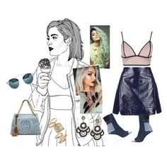"""""""Watch n' Learn #Rihanna"""" by diane-ds ❤ liked on Polyvore featuring Topshop, Rare London, Gucci and Off-White"""