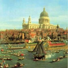 Canaletto,   The Thames, London