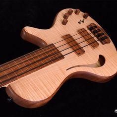 Nikola Adamovic「Hollow 4 Fretless Flamed Maple Bass #adamovic #fretless #hollowbody #bass」