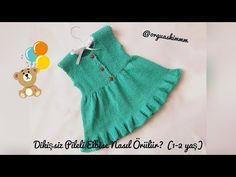 Free Crochet Patterns for Baby Dresses 2019 new Season - Page 17 of 51 - Kids Crochets Lace Patterns, Baby Knitting Patterns, Crochet For Kids, Crochet Baby, Free Crochet, Knit Baby Dress, Knitting Videos, Baby Sweaters, Yarn Crafts