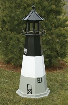 Well Pump Cover Wooden Lighthouse With Solar Light