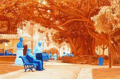 "Saatchi Online Artist: Fernando Gerardo; Acrylic, 2008, Painting ""Conversa colorida"""
