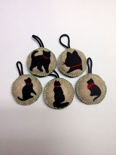 Felt Silhouette Pet Ornaments::Use photos of your pets to make ...
