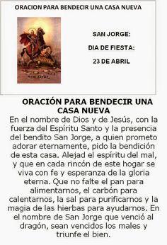 San Jorge, oración para bendecir una casa nueva