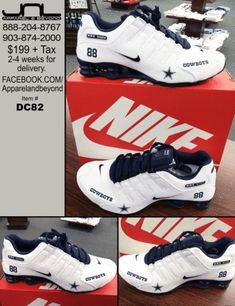 Custom Dallas Cowboys Dez Bryant Nike Shox  88 – JNL Apparel Dallas Cowboys  Shoes 681d4a528