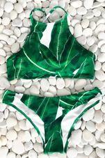 Cupshe Living For Forest Leaves Bikini Set