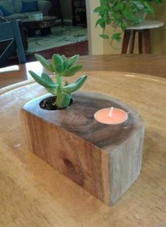 27 Candle Holder Ideas For Your Home 🏠 homedecor home homedecorideas homedesign kitchen kitchendesign diy decor dresses women womensfashion workout beauty beautiful fashion ideen ideas 🏠 Unique Candle Holders, Wood Candle Holders, Unique Candles, Small Wood Projects, Projects To Try, Woodworking Plans, Woodworking Projects, Popular Woodworking, Woodworking Furniture