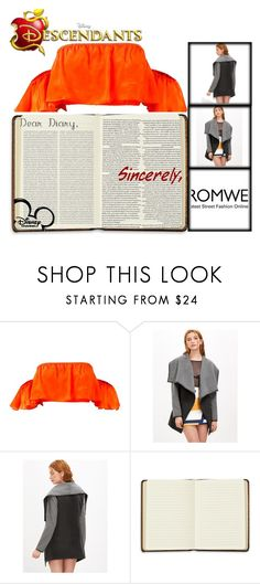 """""""Romwe"""" by whocares-987 ❤ liked on Polyvore featuring Harrods, Oris and Disney"""