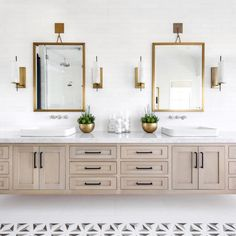 We're thinking we may just live here! @lindyegalloway With this OASIS of a Master Bath.  #interiordesign #inlay #whiteoak #customcabinets #golds #floatingvanity #circalighting #rejuvenation #marble #dwell #westcoaststyle #kohler #SMinspiration #designforlifeSM #studiomacleod