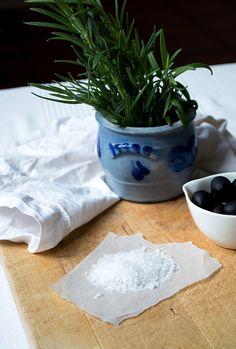 sea salt, fresh rosemary and olives. Olives, Sea Salt, Food Inspiration, Food Photography, Photographs, Fresh, Table Decorations, Photos, Dinner Table Decorations