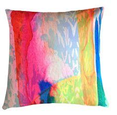 Cushion - Watercolour Dreaming - Ganges - Kerrie Brown