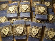 45 rustic favors  wedding favors bridal shower by CountryChicSoaps, $74.25