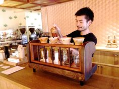 cafe kitsune's very own dripping stand!
