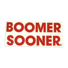 "Oklahoma ""Boomer Sooner"" Decal"