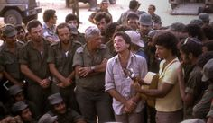 Leonard Cohen performing among Israeli Soldiers during the Yom Kippur war, 1973