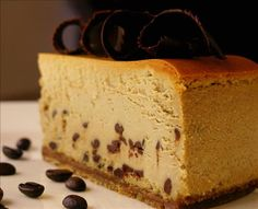 Cappuccino Cheesecake - Ill have to try this with my other cheesecakes strategy for the crust and bar method! Cappuccino Cheesecake Recipe, Coffee Cheesecake, Cheesecake Recipes, Dessert Recipes, Carmel Cheesecake, Dessert Food, Chocolate Cheesecake, Pie Recipes, Yummy Recipes