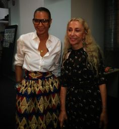 Very special thanks to Franca Sozzani for supporting #StellaJean #métissage idea for ITC Ethical Fashion Initiative #MFW
