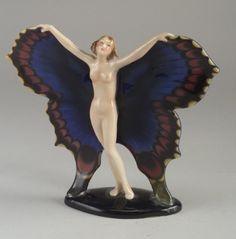 GOLDSCHEIDER figural sculpture of nude w