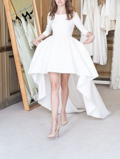 Party in the front and in the back! The perfect dress for any bridal bash (engagement party, bridal shower etc!) Delphine Manivet on Moda Operandi