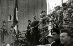 June 23, 1934: Adolf Hitler visits Venice, Italy and Mussolini throws the usual grand reception for the new German chancellor. Hitler is dressed in mufti -- he has yet to assume the guise of the great Leader and, most significantly, warlord.