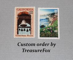 Reserved Custom Order for Jillian. Unused Vintage US Postage Stamps for mailing Wedding invitations by TreasureFox on Etsy