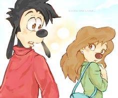 A Long Time Later | by Y @ Pixiv.net // max and roxanne; goof troop; a goofy movie