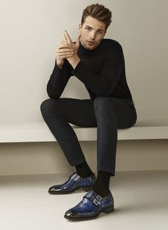 Simple, clean lines in a classic black ensemble, all perfectly tailored. I have finally come to embrace the turtleneck.