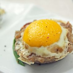 Inside out scotch egg! This recipe is embarrassingly easy, but super delicious! Low carb, keto, gluten free, paleo friendly. Scotch Eggs, Low Carb Diet, Best Low Carb Recipes, Keto Recipes, Ketogenic Recipes, Real Food Recipes, Low Carb Breakfast, Breakfast Recipes, Dessert Recipes