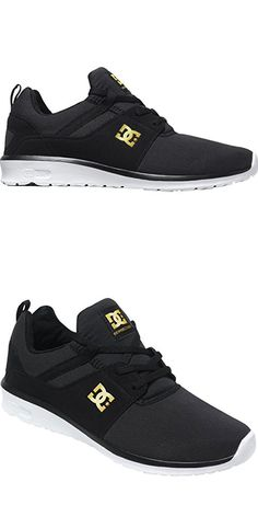 dc85bac3ed7d01 DC Women s Heathrow SE Skate Shoe, Black Gold, 9 M US