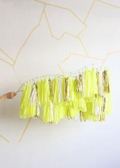 Neon Yellow & Gold