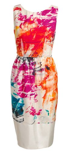Paint splattered dress. I feel you could DIY with this design.