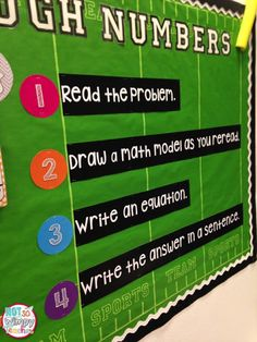 Math problem solving display! Encourages students to draw math models rather than looking for key words.