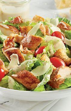 Low FODMAP and Gluten Free Recipe - Chicken & bacon Caesar salad - http://www.ibssano.com/low_fodmap_recipe_chicken_bacon_caesar_salad.html