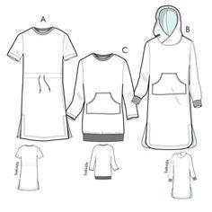 Svenska Mönster - Klänningar / tunikor Swedish Sewing, Haiti, Sewing Patterns, Hoodie, Spandex, Polyvore, Image, Design, Fashion
