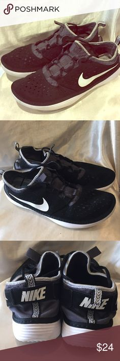 Nike Black Solar Soft athletic shoe size 12 Nike Solar Soft Black athletic shoe very lightweight please see pictures for sole wear size 12 Nike Shoes Athletic Shoes