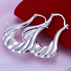 Fashion Statement Sliver Plated Hoop Earrings for Women