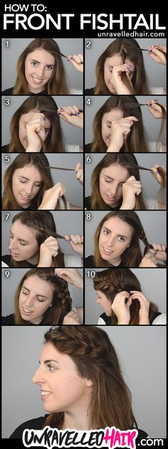 How to Front Fishtail Braid your hair step by step