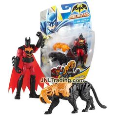 Mattel Year 2014 DC Batman Unlimited Series 4 Inch Tall Action Figure - BATMAN and TIGER CLAW with Removable Tiger Mask