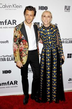Franca Sozzani & her son, who has just completed a documentary about his mother