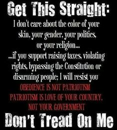 Love your country, not your government!