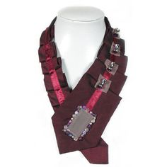 159. Seiden Krawatte Roter Wein Burgunder von AleksandraSemeniuk