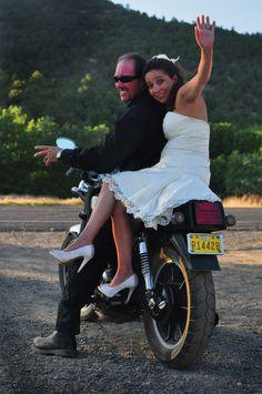Missy & Oz biker wedding FUN FUN!