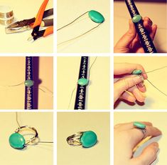 diy wire wrapped ring tutorial