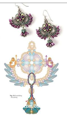 "Photo from album ""Разные схемы"" on Yandex. Free Beading Tutorials, Beading Patterns Free, Beaded Jewelry Patterns, Beading Projects, Beading Techniques, Earring Tutorial, Seed Bead Earrings, Seed Beads, Loom Beading"