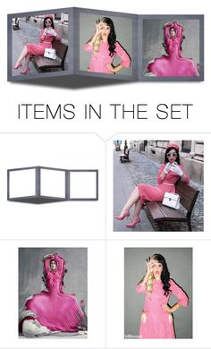 """Pink and Grey"" by lovetodrinktea ❤ liked on Polyvore featuring art"