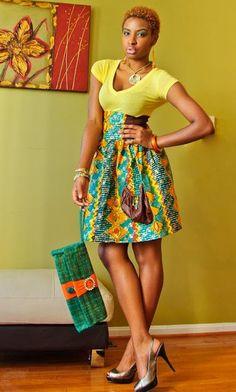 Mini Gown Ankara Combination - #1 Nigeria Style Blog