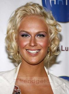 Short Wavy / Curly Lace Front Blonde 100% Human Hair Wigs - $182.99 - Trendget.com
