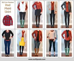 2013 in review - outfit posts: red plaid shirt